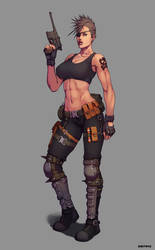 Wasteland Punk Commission by Dmitrys