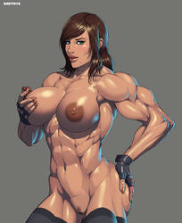 Muscle girl by Dmitrys