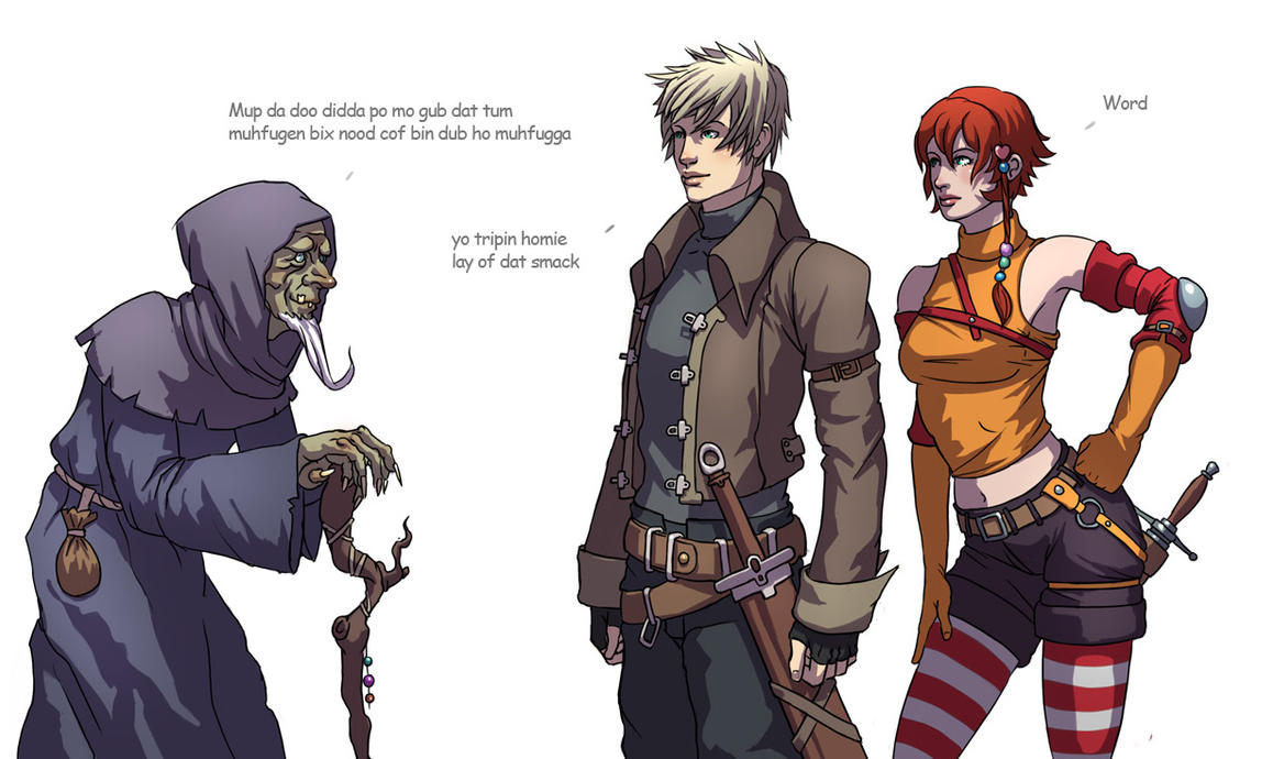 rpg characters 3 of them by Dmitrys