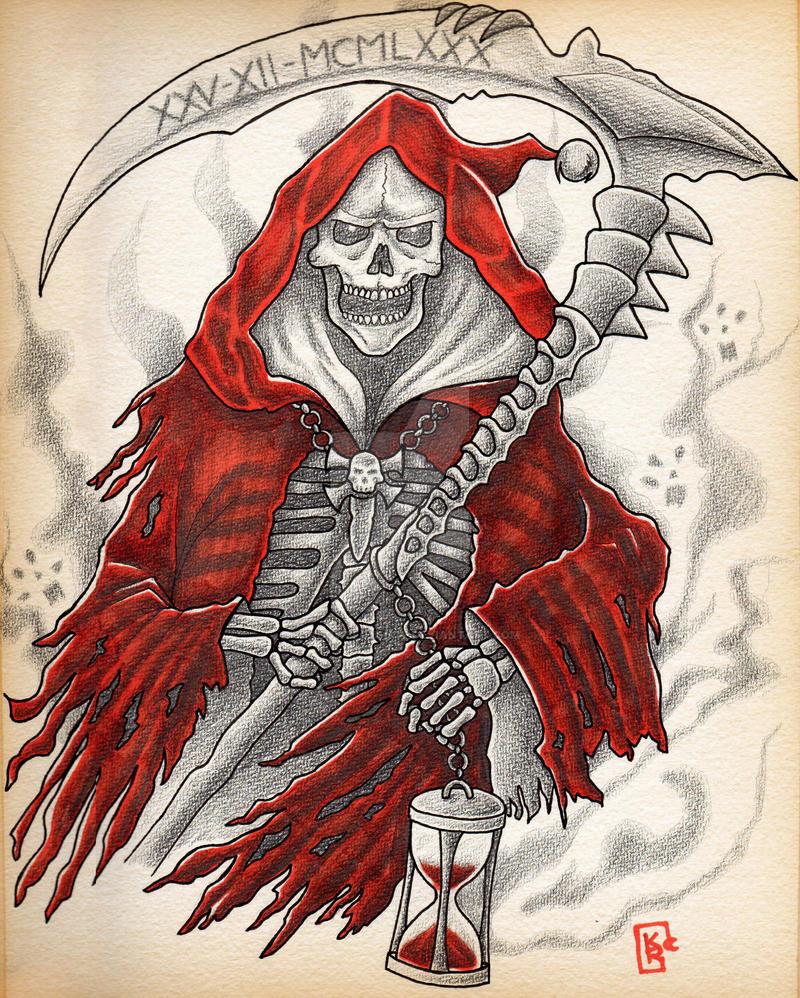 Shadow's Fox ( tattoo ). Christmas_reaper__by_shadowsfoxshop-d9sg58d