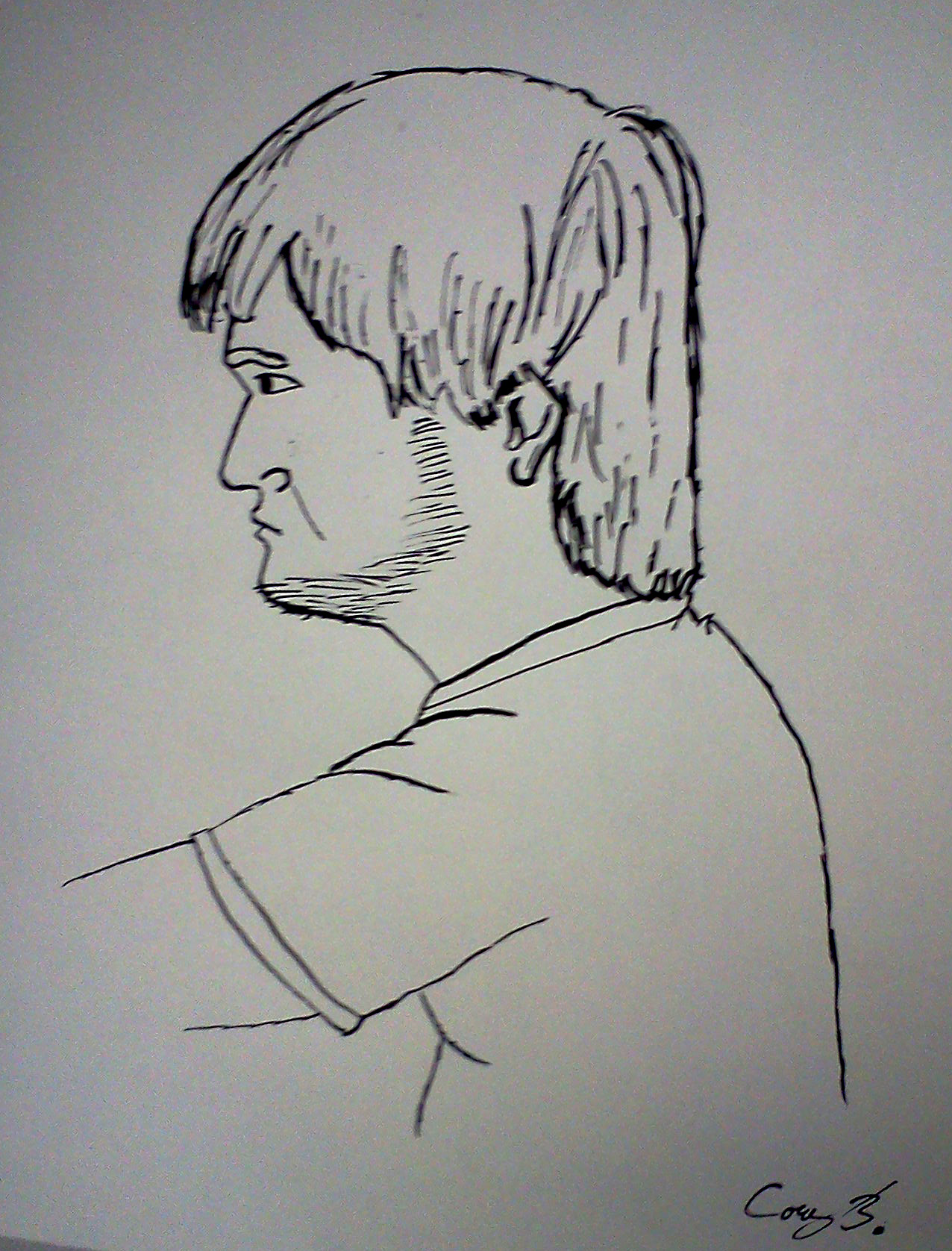 Contour Line Drawing Of A Person : Contour man by corythegingerkid on deviantart