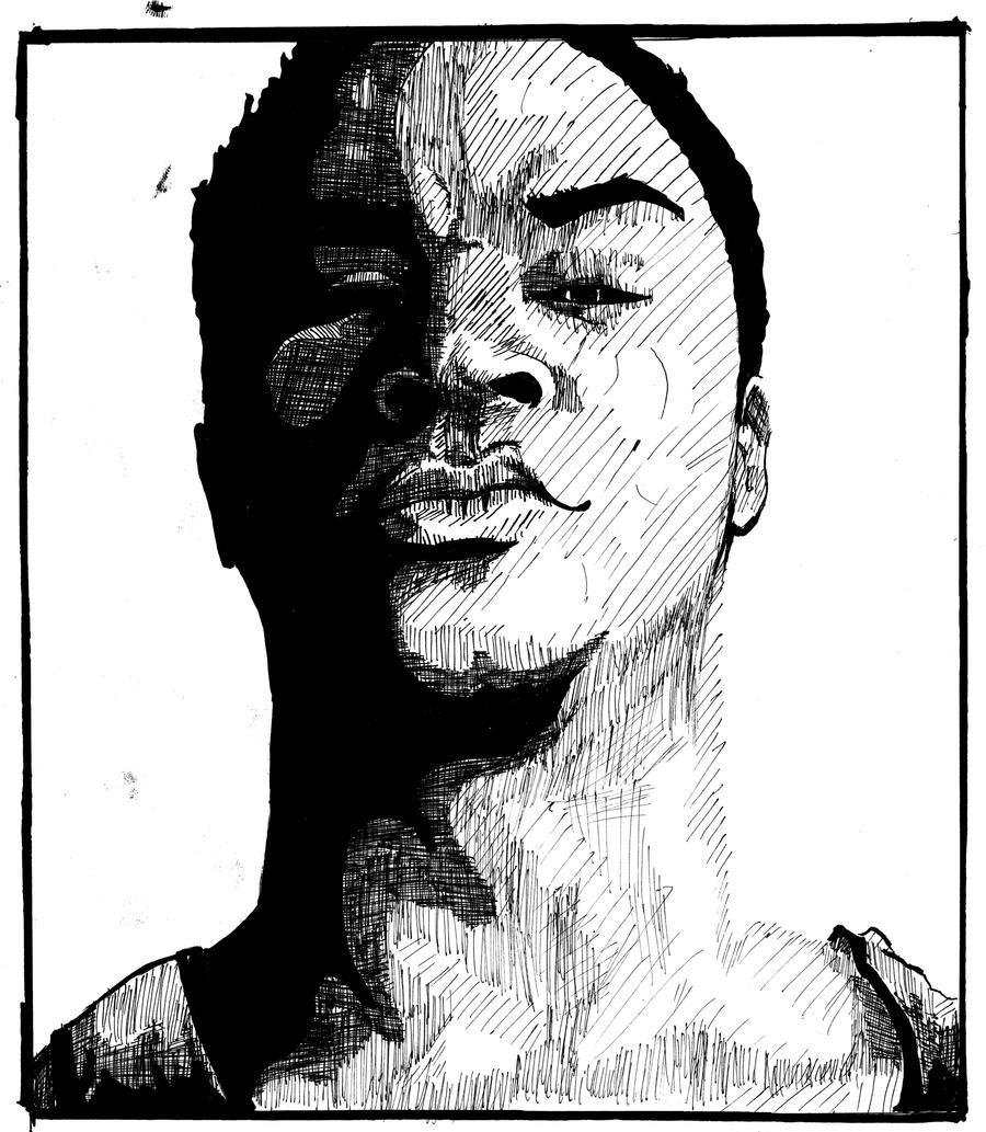 Line Art Portrait : Old self portrait lineart by dizzyskulz on deviantart