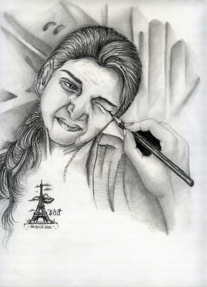 Pencil sketch ...
