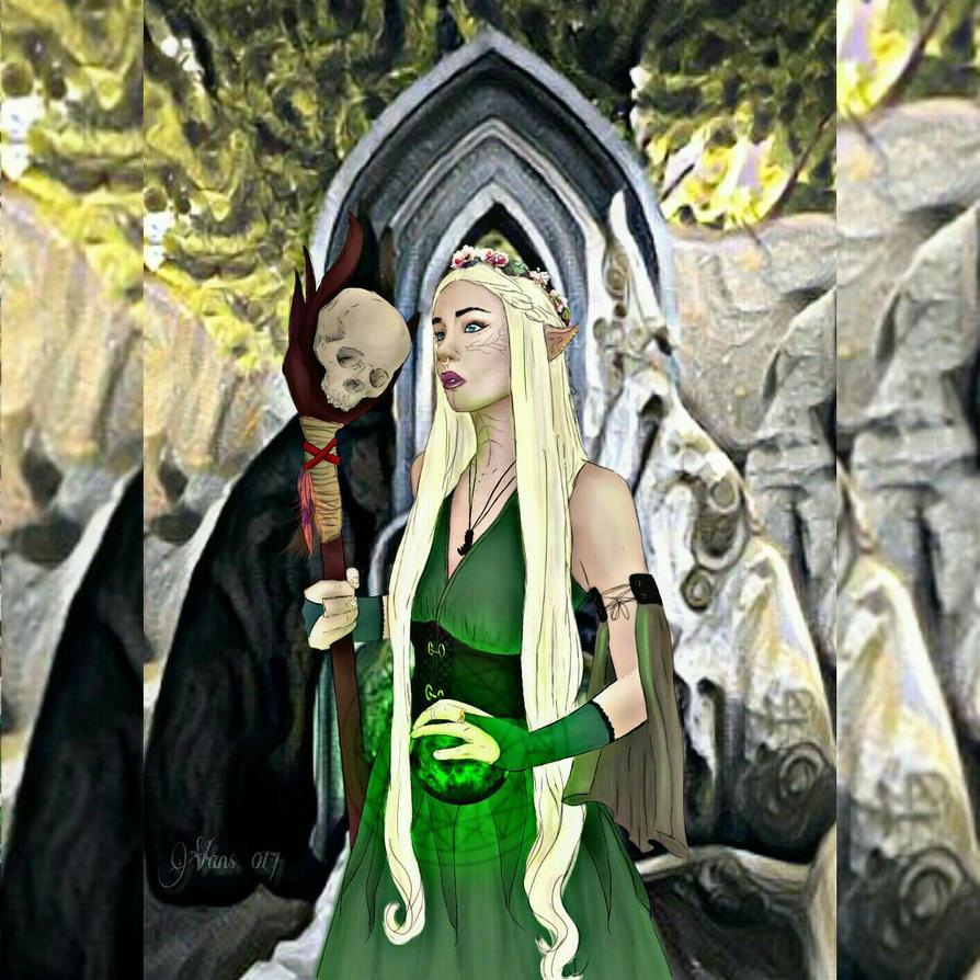 Lavellan in Fen'Harel Shrine.  by Vans021