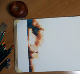 WIP without a title yet - colored pencils on paper by lucianoblini
