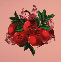 Inktober 2016 #12: Cranberries by skullamity