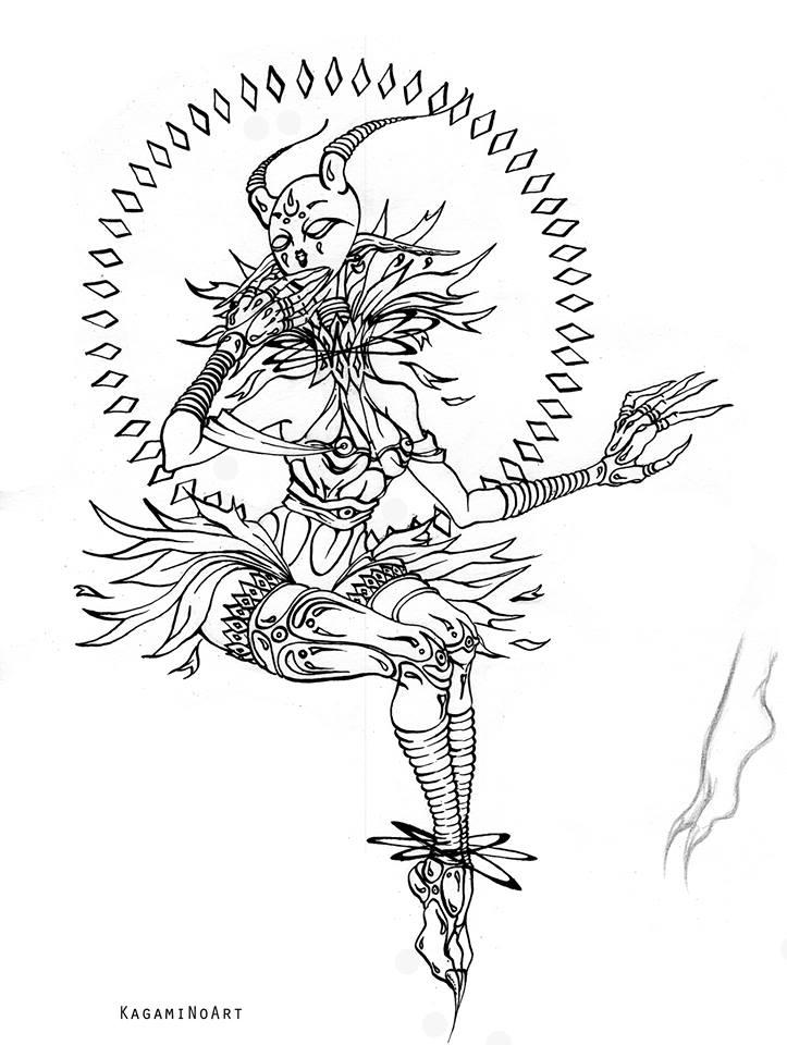 Sun creature by Kagami-Art