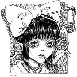Yukata girl dark ended