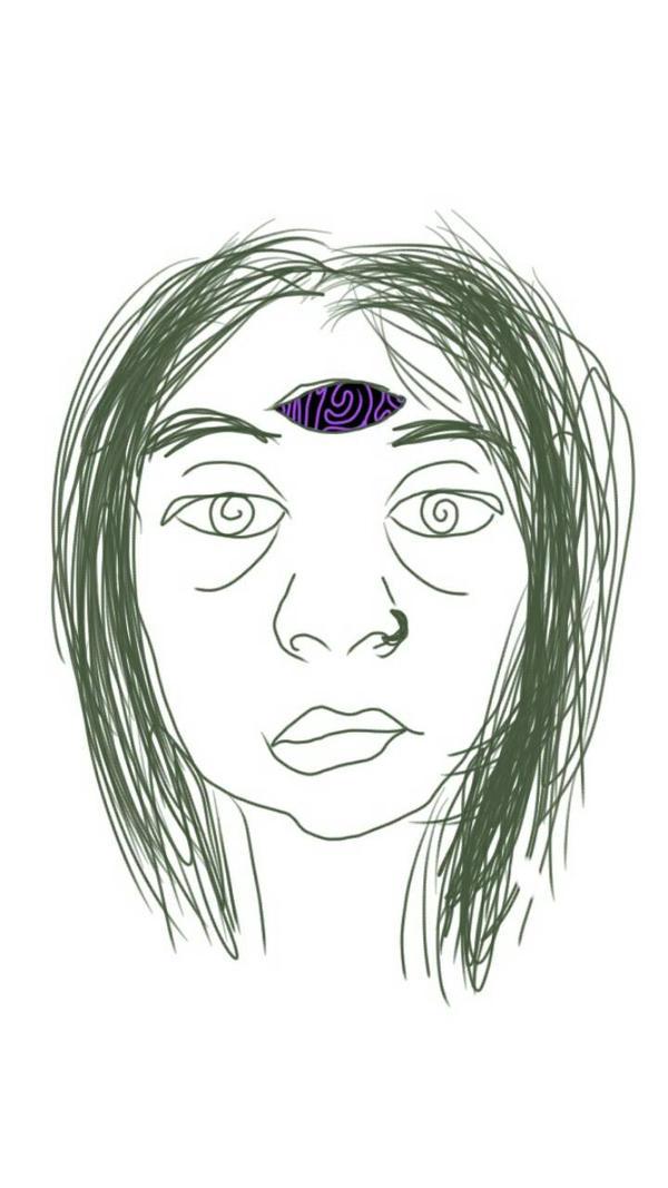 Third Eye Sulk (Self-Portrait) by achangelingchild