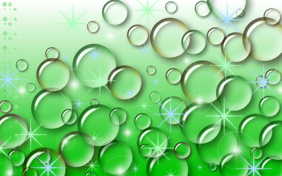 Green bubbles wallpaper Abstract wallpapers