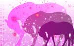 Sookie Pink Horse Wallpaper