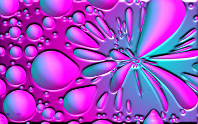 Pink and Blue Bubble Wallpaper
