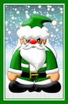 Green Santa Claus by Sookie