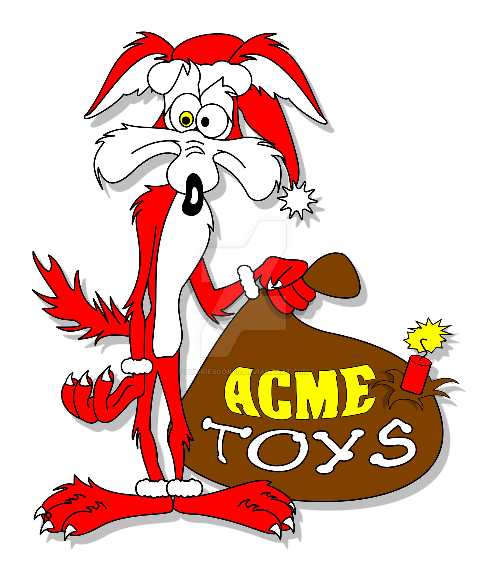 Image result for wile e coyote christmas