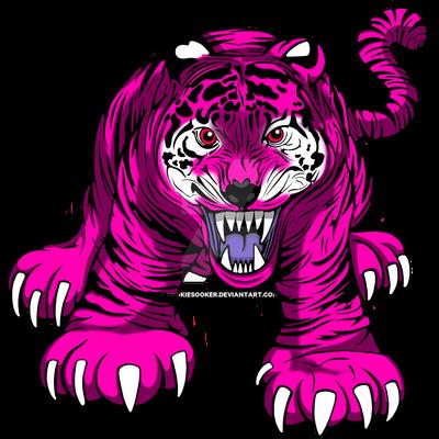 Pink Tiger Growl By Sookiesooker On Deviantart