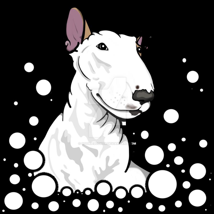 Lola Bull Terrier Bubbles by sookiesooker