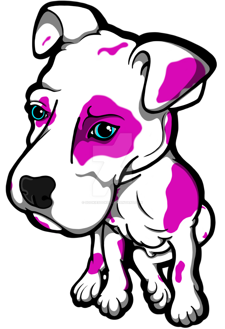 Pink Bully Puppy by sookiesooker