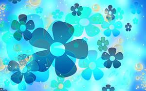 Sookie Blue Flower Wallpaper by sookiesooker
