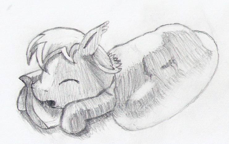Sleeping bat pony by dredaich