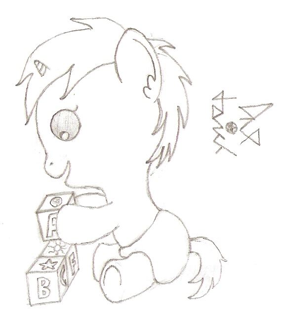 Toddler pony by dredaich