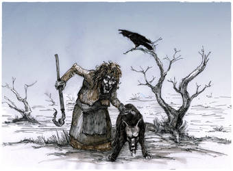 Raven Scream (Redraw) by ebver