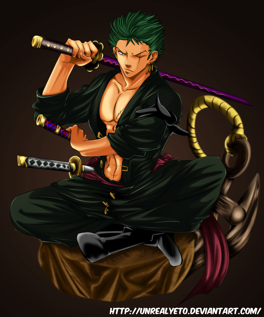 One Piece Zoro Wallpaper: Roronoa Zoro By Unrealyeto On DeviantArt