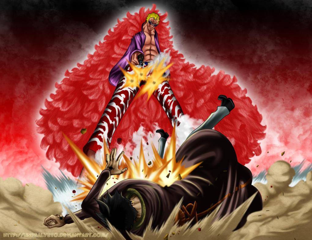 Doflamingo Wallpaper 3d One Piece Law vs Doflamingo
