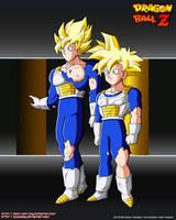 Goku and Gohan SSJ Damage  SCTCH by Seiya-Dbz-Fan