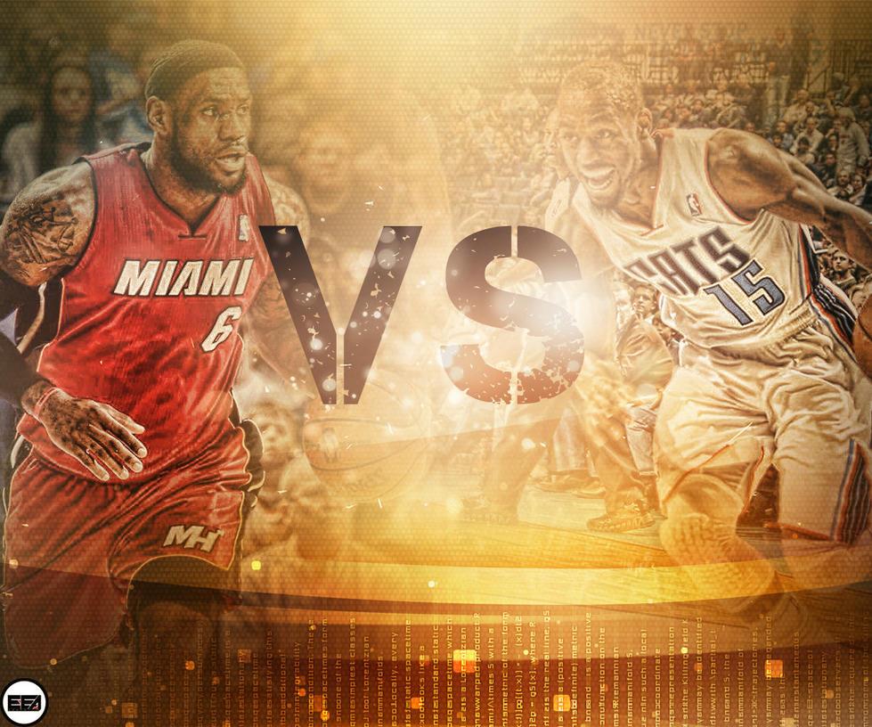 Miami Heat Vs Charlotte Bobcats by EmanuelooElArte