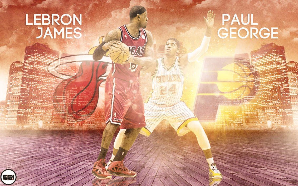Lebron james and paul george by emanuelooelarte on deviantart lebron james and paul george by emanuelooelarte voltagebd Choice Image
