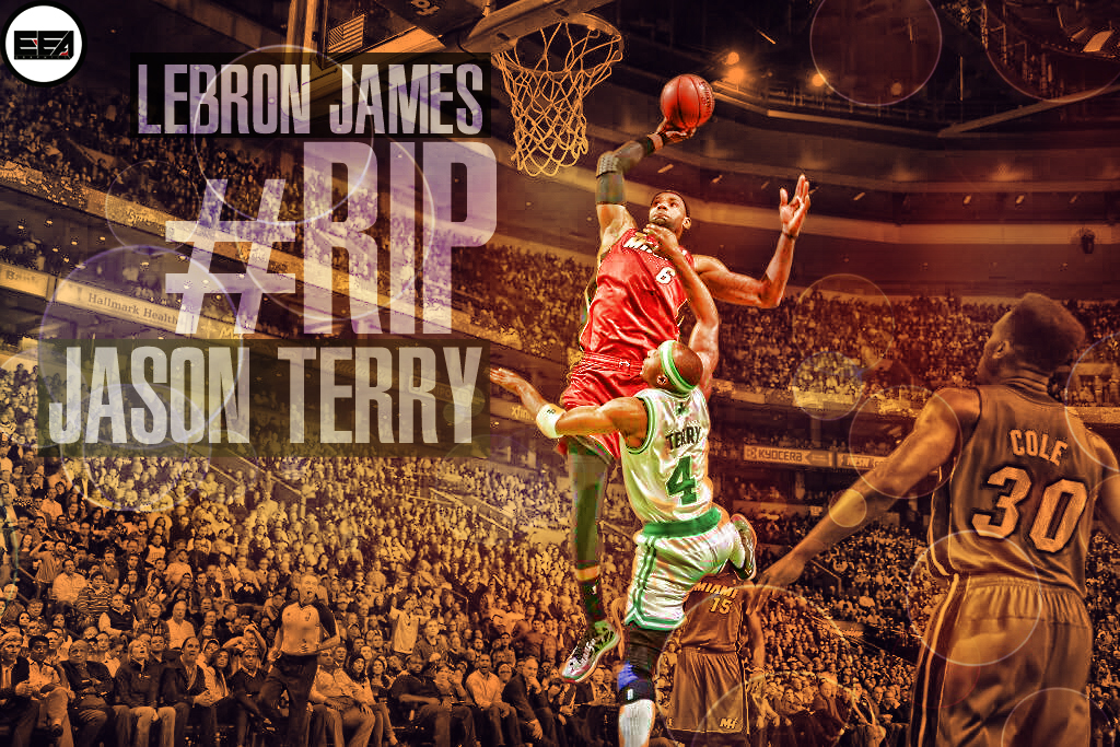 LeBron James Dunk Over Terry by EmanuelooElArte on DeviantArt