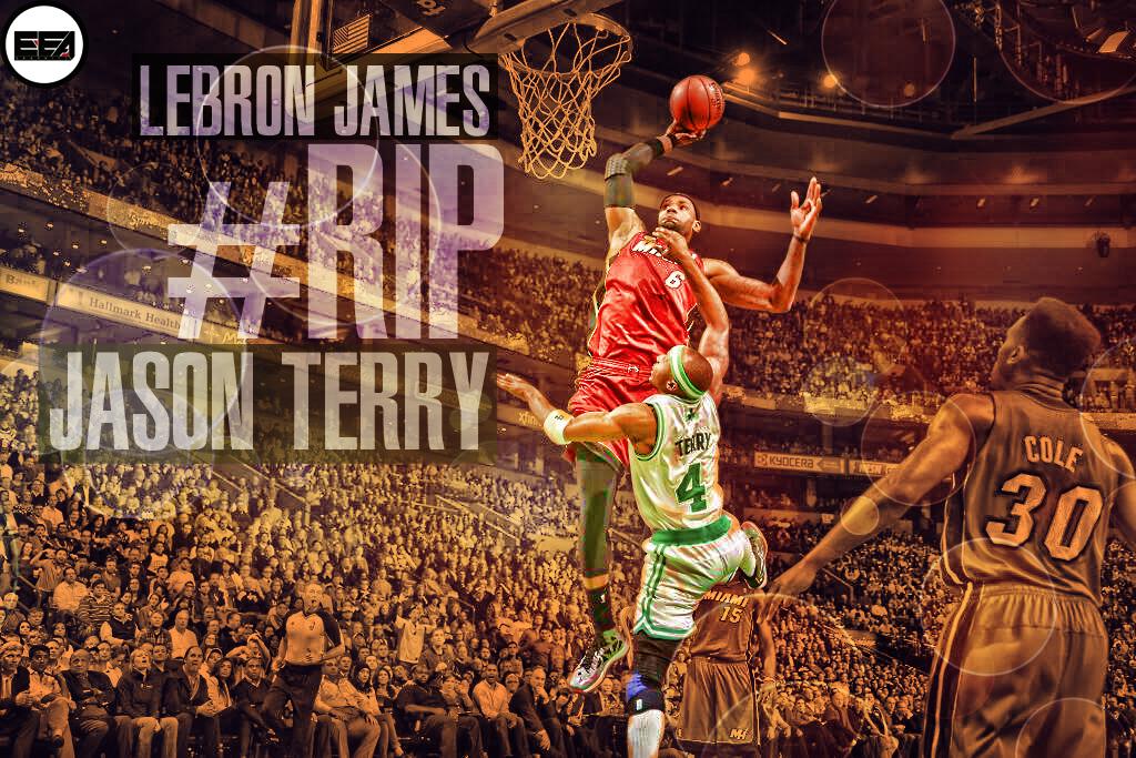 LeBron James Dunk Over Terry by EmanuelooElArte on DeviantArt