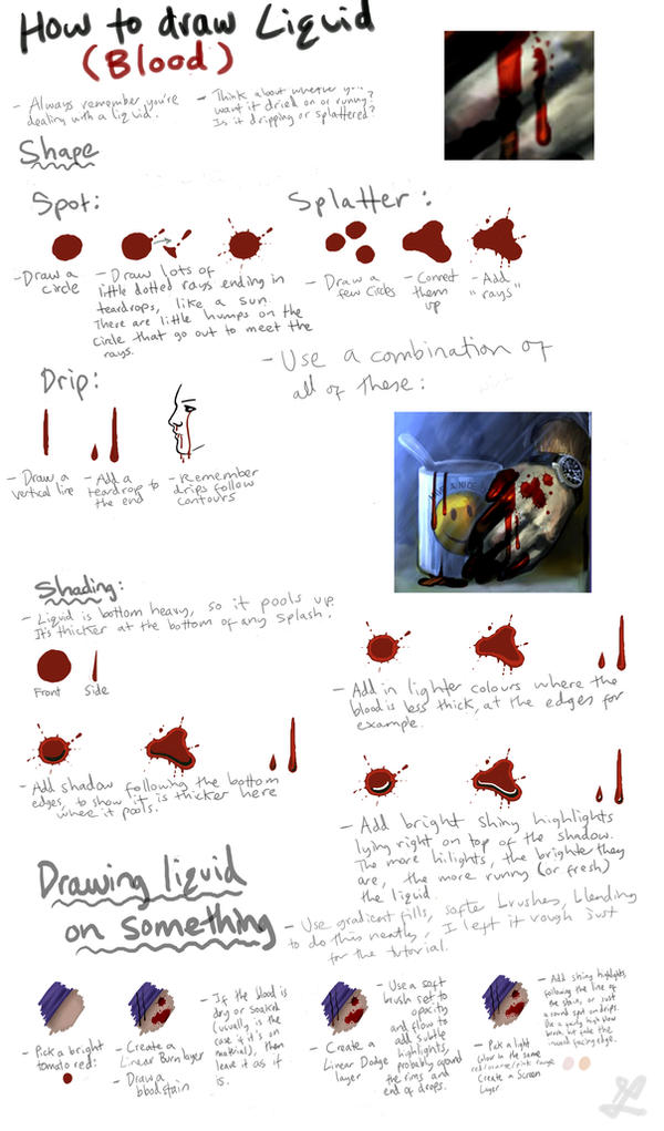 how to draw blood and liquid by deletedseen on deviantart