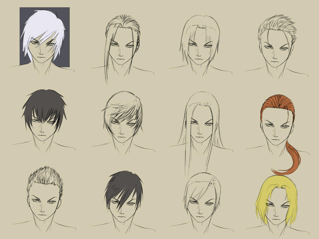 Anime Male Hairstyles Drawings