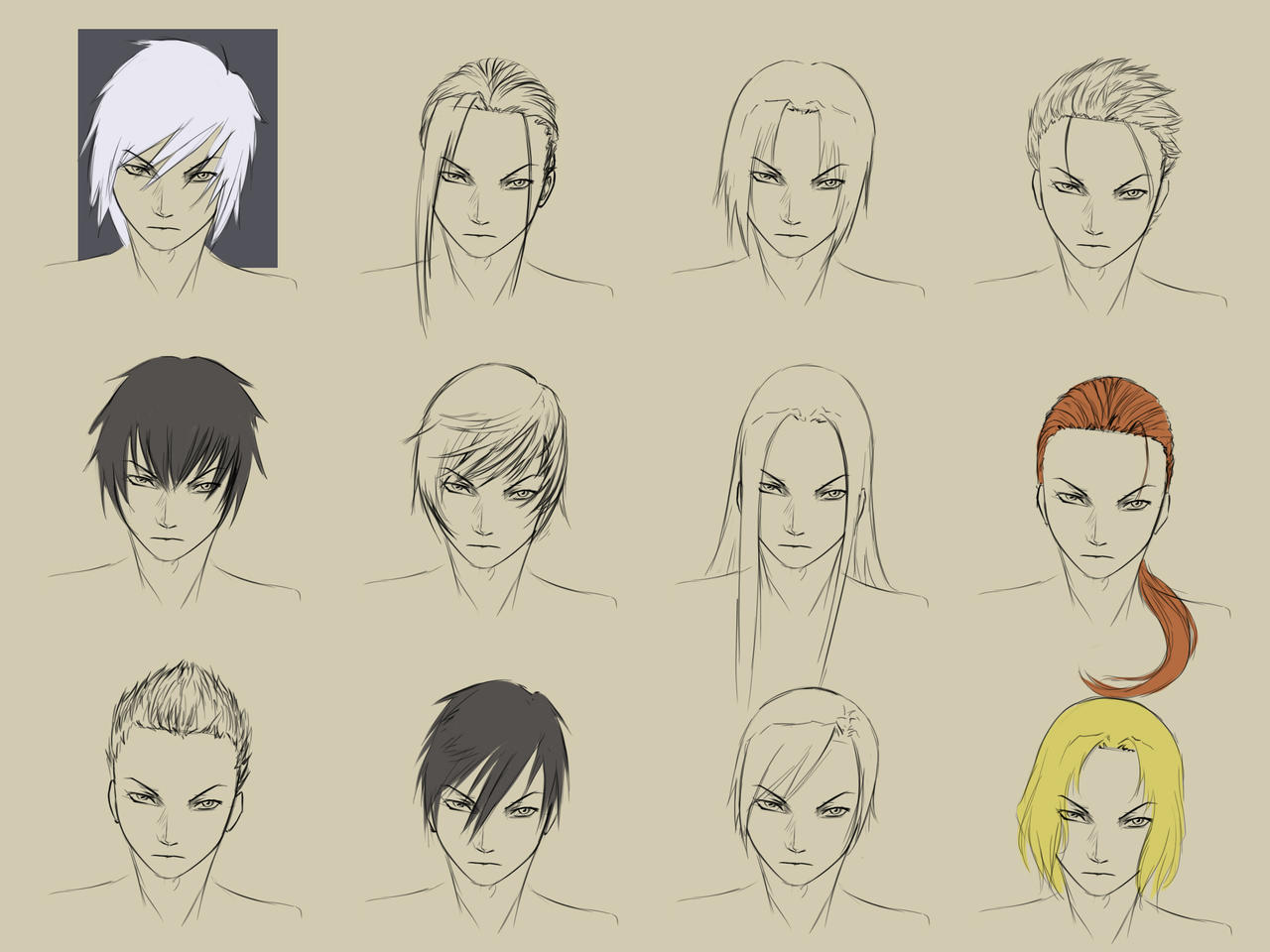Male Hairstyles By Forgotten-wings On DeviantArt