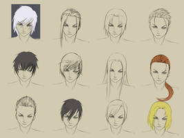 Male Hairstyles by forgotten-wings
