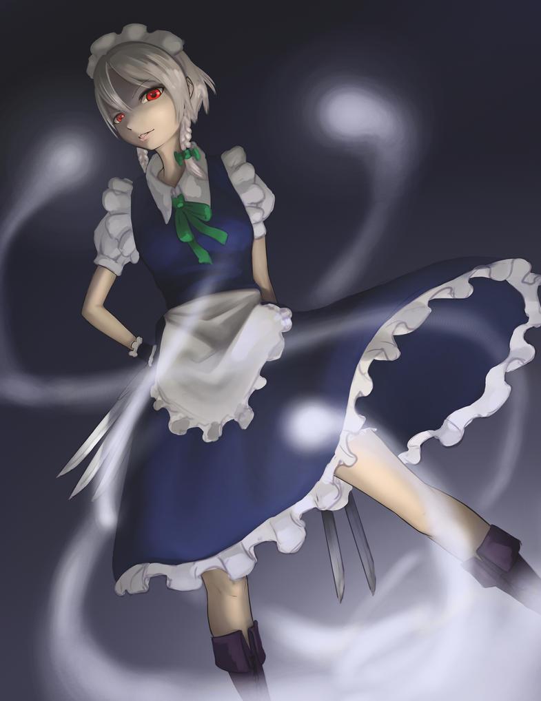 Izayoi Sakuya by forgotten-wings
