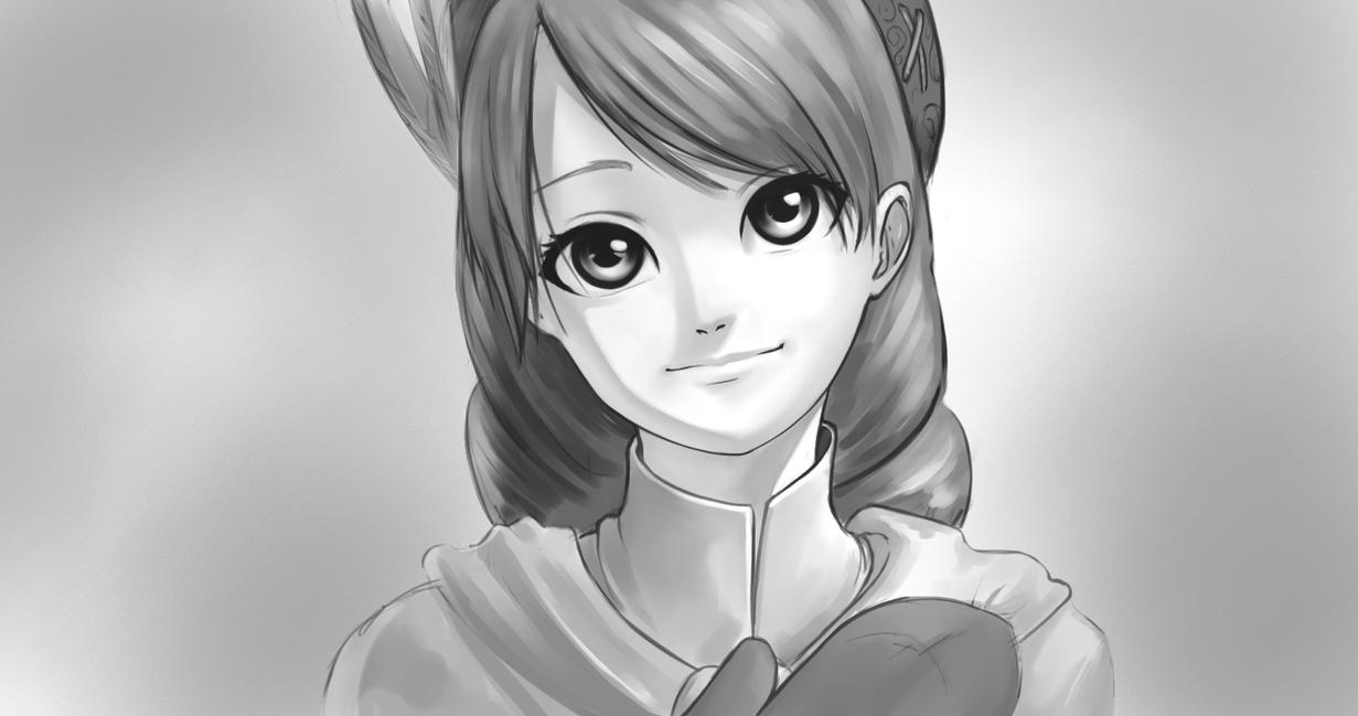 Yunica smile sketch by forgotten-wings