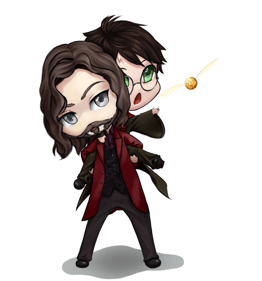 Harry potter and Sirius Black by forgotten-wings
