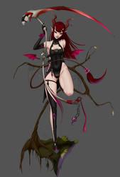 Demon Girl by forgotten-wings