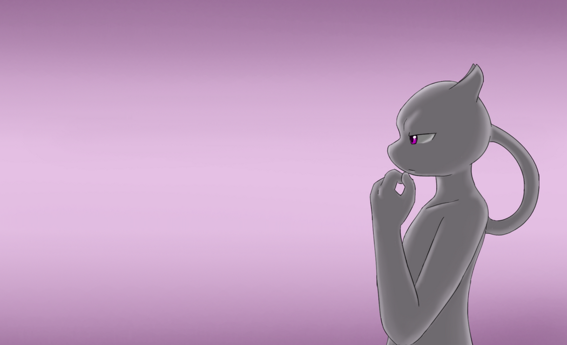 Mewtwo In Thought by livinlovindude