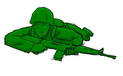 Green army man by livinlovindude