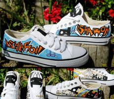 Graffiti shoes by OpaliChan