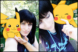Pikachu and me by OpaliChan