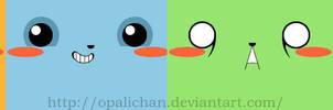 Kawaii stickers by OpaliChan