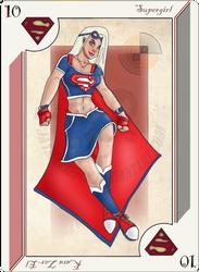 Playing Card Supergirl by JayMaverick