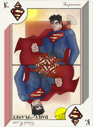 Playing Card Superman by JayMaverick