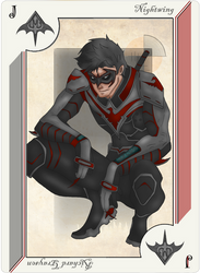 Playing Card nightwing by JayMaverick