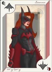 Playing Card Batwoman by JayMaverick