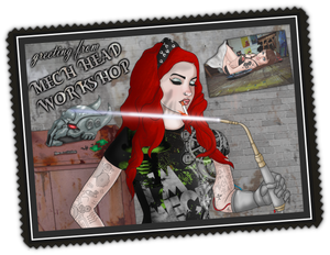Mech Head Workshop Postcard